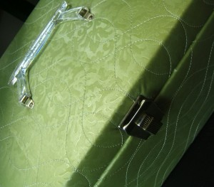 green overnight carrying case